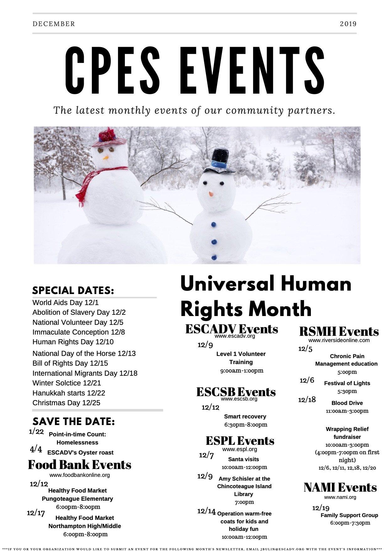 Dec 2019 Newsletter